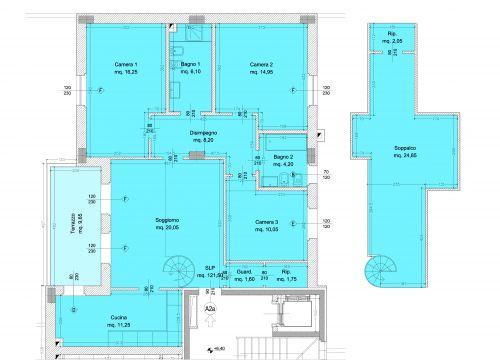 Borgo dell 39 ambrogiana generali costruzioni erta srl for 3 camere da letto 2 bagni piani piano aperto